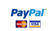 Payments from Paypal, Visa, MasterCard